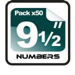 "9.5"" Race Numbers - 50 pack"
